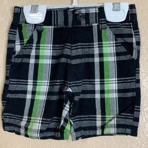 U.S Polo Assn. plaid baby boy shorts